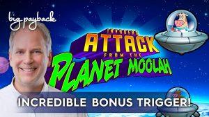 Invasores atacam do slot Planet Moolah - grande bônus de vitória!