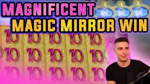MAGIC MIRROR DELUXE II €10 STAKE HIGHROLL BONUS   large WIN ON MERKUR SLOT MACHINE