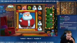 MEGA WIN! obese SANTA large WIN   casino bonus game from CasinoDaddy Live flow