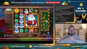 MEGA WIN! obese Santa large WIN! casino bonus Games from MrGambleSlot Live flow