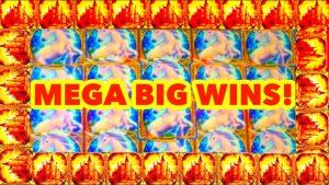 **MEGA large WINS!!!** My Best Wins on Mystical Unicorn Slot Machine portion 1!