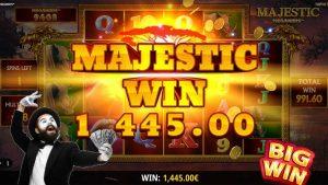 Majestic Megaways large WIN bet 3 €   Casinò online