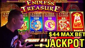 OMG ✦2 JACKPOT HANDPAY✦! Slot machine Endless Treasure & Lock It Link Slot machine Puntata massima JACKPOTS