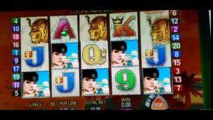Queen of The Nile Online casino bonus Slot – large WIN! $10 Bet!!!!