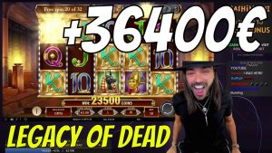 ROSHTEIN 32 Bonus Spins inward Legacy Of Dead x728 large Win