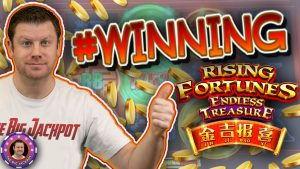 😮SO MANY WINS ON THE novel RISING FORTUNES ENDLESS TREASURE!!!🤑  | Brian of Denver Slots