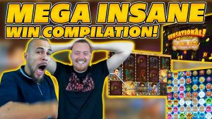SUPER MEGA INSANE WIN COMPILATION! large WINS as well as AWESOME SESSION on Online SLOTS!