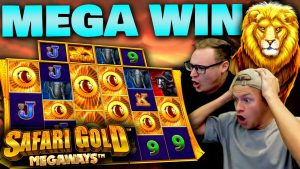 Safari Au Megaways MEGA WIN - nove Scatters a partir de 1 € 200 Megaways Wheel!