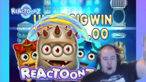 Super large Win on Reactoonz ★ Play´n GO slot, played on Vihjeareena´s flow