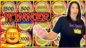 THIS DRAGON LINK SLOT WAS HOT // large WINS in addition to $10 BETS !!