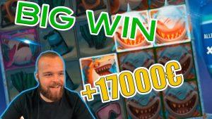 UNREAL WIN! Streamer win 17.000€ on Razor Shark Slot! BIGGEST WINS OF THE calendar week! #4