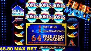 🔥flame WOLF Slot Machine 64 loose SPINS | $8.80 Max Bet | large Win  🔴PREMIERE #3 | casino bonus | Live Slot