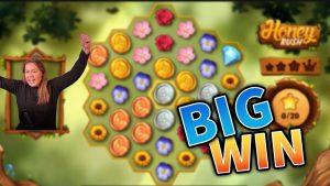 large WIN!!! Honey Rush Crazy Win!! casino bonus Games from MrGambleSlot Live flow