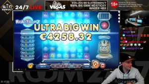 large WIN!!! Online casino bonus Slot Reactoonz (Play'n GO) – Bet 5€ Win 7.507€ (1.501x)