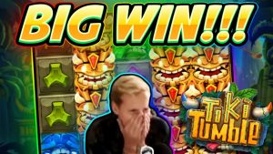 large WIN!!! Tiki Tumble large WIN – Online slot played on CasinoDaddys flow