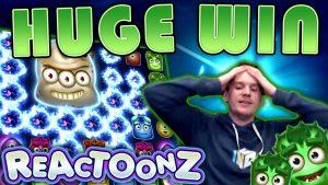 large WIN on Reactoonz Slot – £20 Bet!