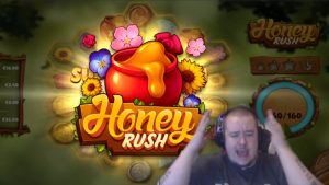 large Win ★ Honey Rush ★ Play´n GO slot, played on Vihjeareena´s current