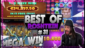so many MEGA large WINS | Best of Roshtein #31