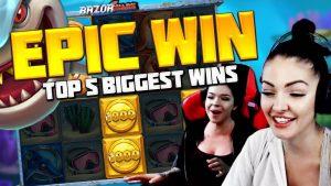 TOP 5 BIGGEST WINS OF THE calendar week | casino bonus GAMES |  UNEXPECTED MULTIPLICATION inwards THE SLOT RAZOR SHARK