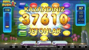 18.805 TL - Reel Rush 2 - kasino bonus Oyunları - Slot Oyunlari #bigwin # CasinoOyunları #parakazan #slot