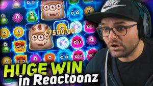 Andypsx Huge win 10.000 € on Reactoonz slot – TOP 5 mega wins inward casino bonus online