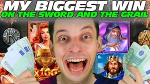 BIGGEST WIN EVER ON THE SWORD together with THE GRAIL casino bonus SLOT