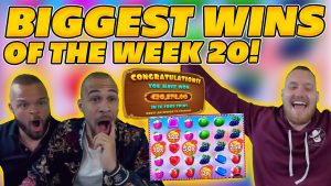 BIGGEST WINS OF THE calendar week 20! INSANE large WINS on Online Slots! TWITCH HIGHLIGHTS!