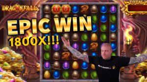 Epic Win!!! Dragonfall large WIN!! casino bonus Games from MrGambleSlot Live flow