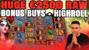 HUGE €2500 WHITE RABBIT BONUS BUYS + HIGHROLL | BTG ONLINE SLOT MACHINE