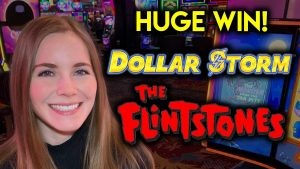 HUGE WIN! The Flintstones Slot Machine! Awesome Run! Lots Of Features!