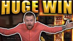 HUGE large WIN on DEADWOOD – casino bonus Slots large Wins