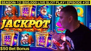 High bound PIGGY BANKIN Slot Machine HANDPAY JACKPOT – $50 BET   flavour-12   Episode #30