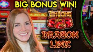 Graniță mare BONUS WIN! Slot Machine Dragon Link!