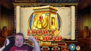 Vitória enorme no bônus ★ Legacy of Dead ★ Slot Play´n GO, jogado na corrente de Vihjeareena