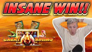 INSANE WIN !!! Grande rinoceronte Megaways grande WIN - giochi bonus casinò da Casinodaddys flusso dal vivo