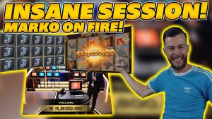 INSANE large WIN SESSION past times MARKO! HUGE WINS on Online Slots too tabular array Games