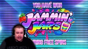 Insane Bonus Win ★ Jammin' Jars ★ force Gaming slot, played on Vihjeareena´s current