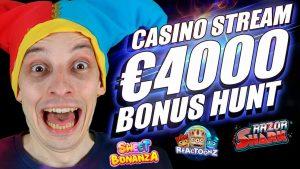 LIVE casino bonus current, large BONUS HUNT | ONLINE SLOTS large WINS with mrBigSpin