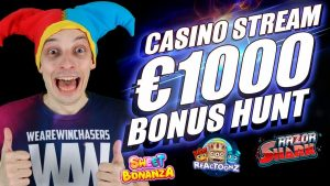 Fluxo de bônus do cassino LIVE € 1000 BONUS HUNT   SLOTS ONLINE grandes vitórias com mrBigSpin
