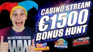 LIVE casino bonus flow, TRIPPLE BONUS HUNT  | ONLINE SLOTS large WINS with mrBigSpin