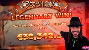 🔥ROSHTEIN novel HUGE large WIN ON 300 SHIELDS SLOT