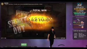 Roshtein Deadwood large WIN 18680 – Online casino bonus large Win inwards Slots