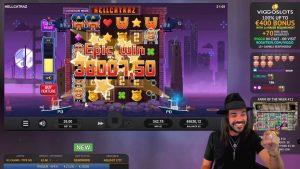 Roshtein Hellcatraz Huge Win X1440 – Online casino bonus large Win inward Slots