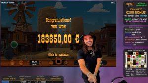 Roshtein Moneytrain novel Win tape €183650 – Online casino bonus large Win inward Slots