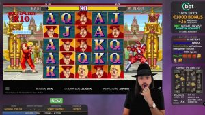 Roshtein Street Fighter II large Win 45770€ – Online casino bonus large Win inward Slots