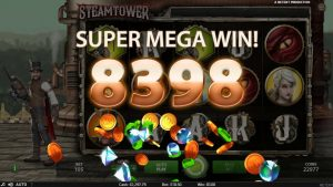 SteamTower անցք անցյալ անգամ NetEnt - Single Spin large Win