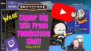 Super large Win From Tombstone Slot!!