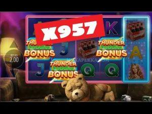 🚀 TED SLOT ► BONUS GAME 💰 MEGA large WIN x957 !!! [ BitCasino.io ]