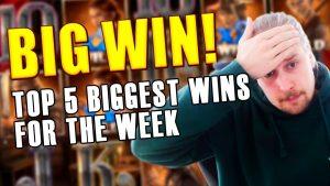 TOP 5 BIGGEST WINS FOR THE calendar week | casino bonus GAMES | SUPER large WIN inward DEAD OR live 2 SLOT