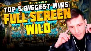 TOP 5 BIGGEST WINS inwards casino bonus FROM BULLED TV | casino bonus GAMES | total cover WILD